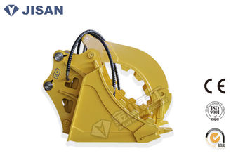 China Stone Excavator Grapple Bucket Fixed Type Hydraulic Power High Strength Steel Grab supplier