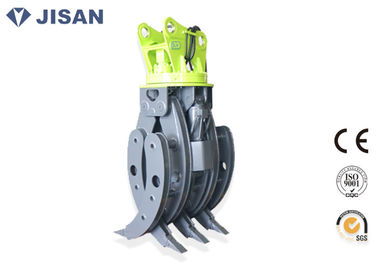 China CE Approved Rotary Hydraulic Wood Grapple For Hitachi ZX230 ZX210 Excavator supplier