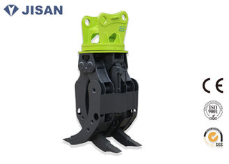 China Multi Function Excavator Rock Grab , Stone Demolition Grapple For Excavator Kobelco SK200 supplier