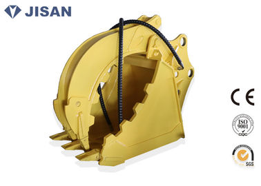 China Non Rotary Excavator Grab Bucket Hydraulic Large Jaw Opening For CAT320 CAT330 supplier