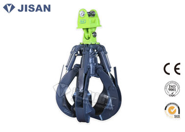 China 360° Rotation Excavator Rotating Grapple 1950mm Max Jaw Opening Fit  PC200 PC210 PC220 factory