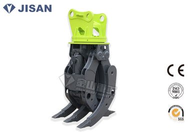 Excavator Mounted Rotator Hydraulic Log Grapple For Hyundai R200 R210 R225