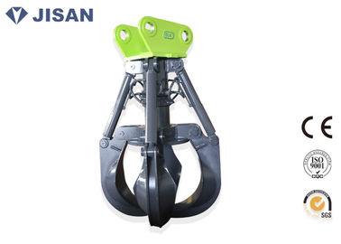 China Non Rotating Orange Peel Grapple , EC210 EC240 Excavator Grab Attachment Long Life factory