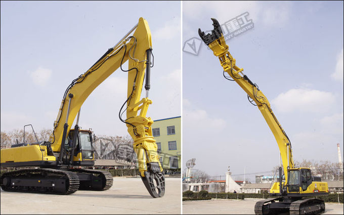 Double Cylinder Excavator Metal Shears 360 Degree Hydraulic Rotation Motor