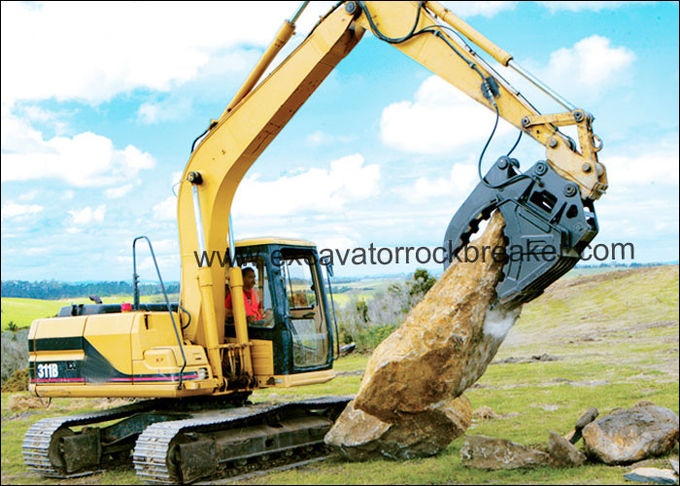 CE Certified Excavator Grab Bucket NM400 , CAT312 CAT313 Bucket Grab For Excavator