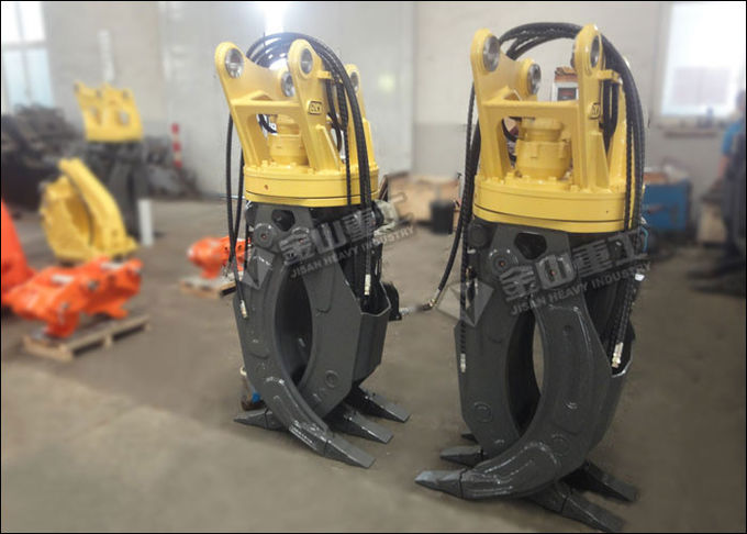 360 Degree Rotating Hydraulic Log Grapple For CAT 312CL 314 315 Excavator