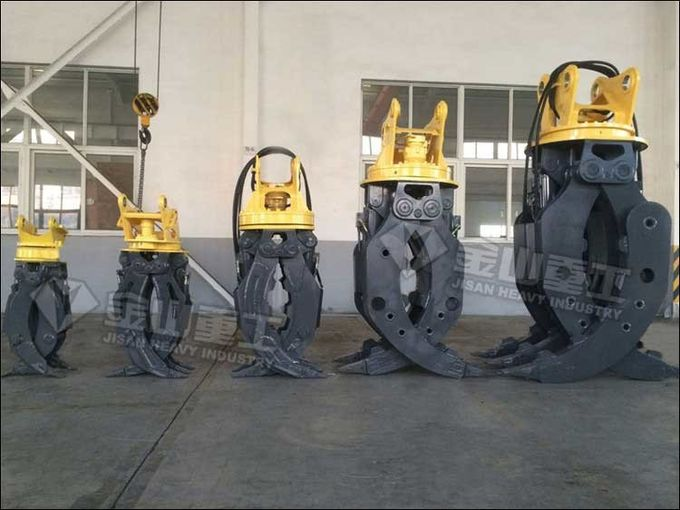 Brake Motor Hydraulic Log Grapple , Komatsu PC60 Log Grab For Excavator