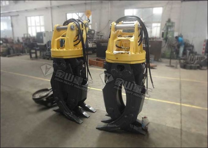 Flat Type Hydraulic Log Grapple Fit Komatsu Excavator PC120 PC130 PC160