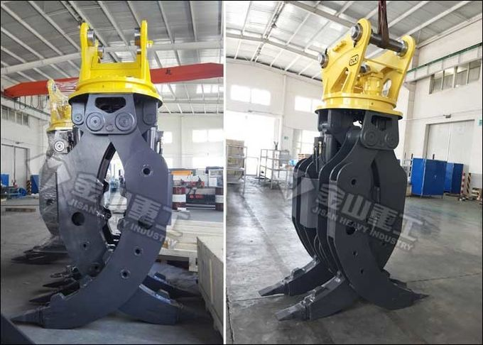 CE Certified Excavator Rotating Grapple 160-180 Kg/cm2 Oil Pressure For Komatsu