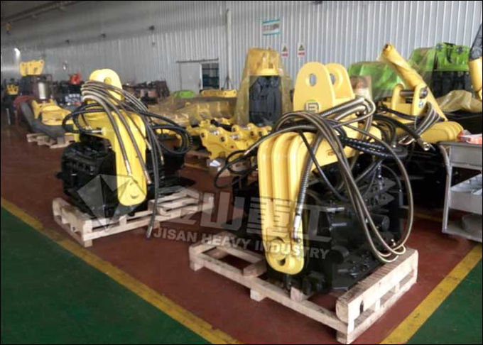 Heavy Duty Hydraulic Vibratory Hammer Customized Clip Mouth For 12 Meter Sheet Pile