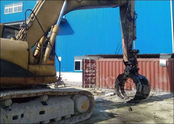 Hydraulic Excavator Grab Attachment Grapple Bucket For 12-16 Ton LIUGONG CLG915