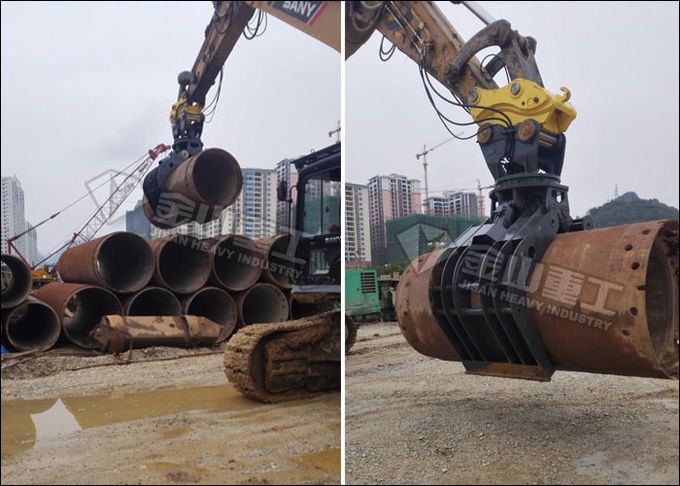 Heavy Duty Sorting Grapple , Building Demolition Grapple For Excavator