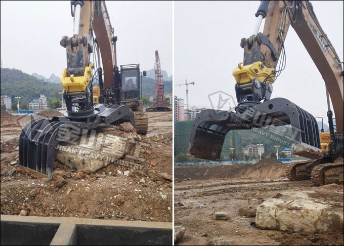 Large Grab Capacity Hydraulic Grapple Attachment 1750mm Opening Width For Loading