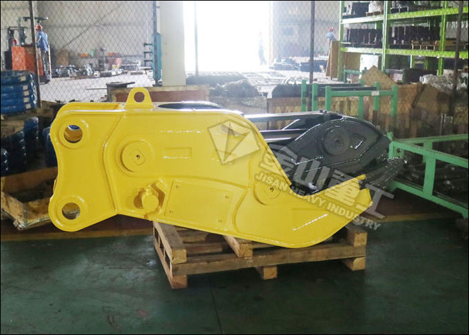 2s Cycle Time Hydraulic Concrete Pulverizer , Multi Processor Concrete Crusher For Excavator
