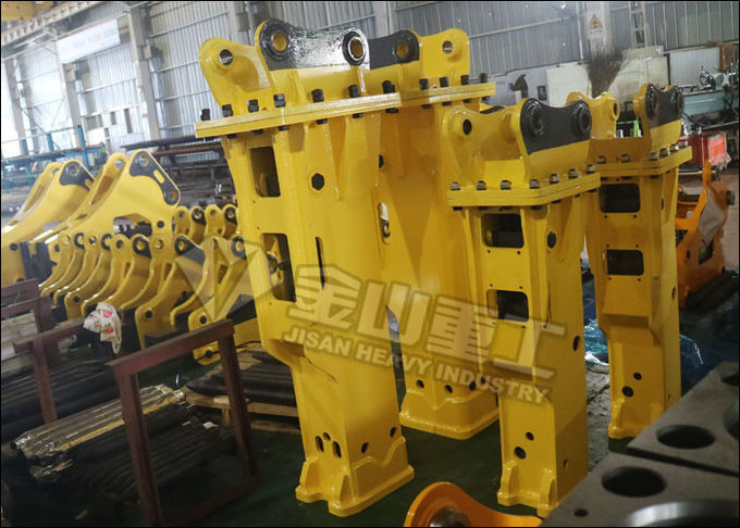 Side Type Hydraulic Rock Breaker , Hydraulic Breaker Hammer For 50 Ton Excavator Caterpillar 350