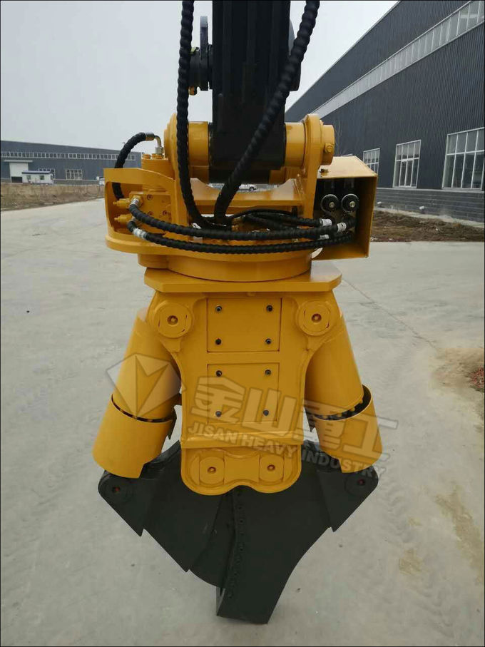 CAT320 Excavator Metal Shears , Scrap Shear Attachment Hydraulic Cutting Machine