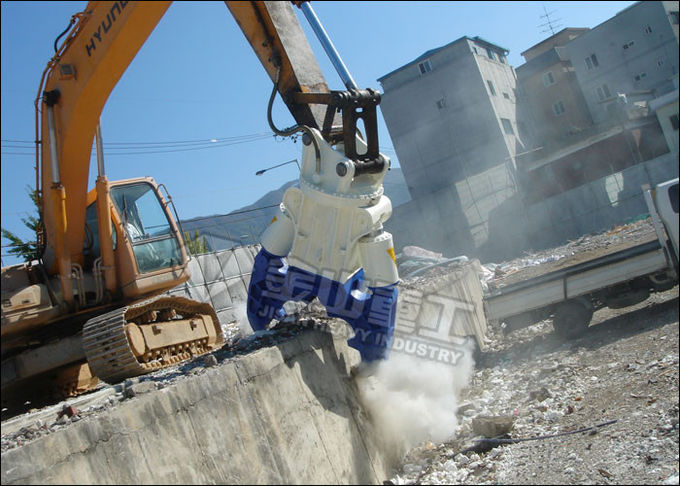Demolition Equipment Hydraulic Concrete Crusher Turnable Blades Primary Crushing