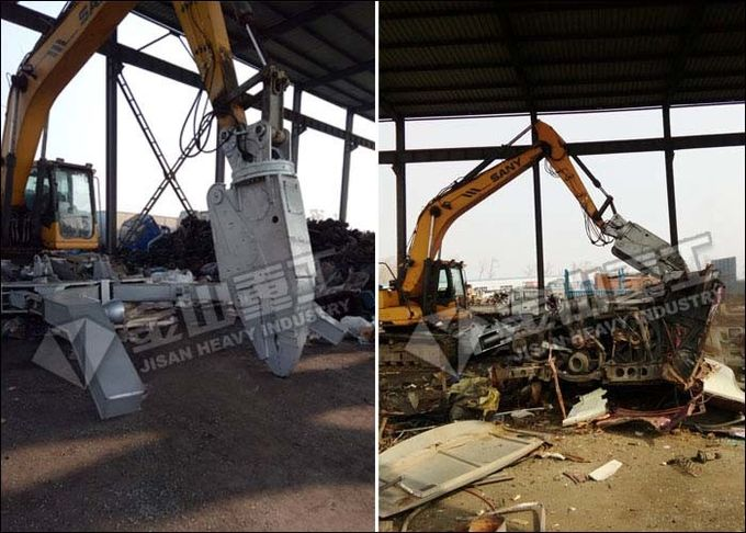 Scrap Car Dismantling Equipment Metal Recycle Attachment With Clamp Arms