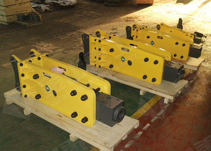 Box Silent Type Soosan Hydraulic Breaker For 4-7 Ton Mini Excavator